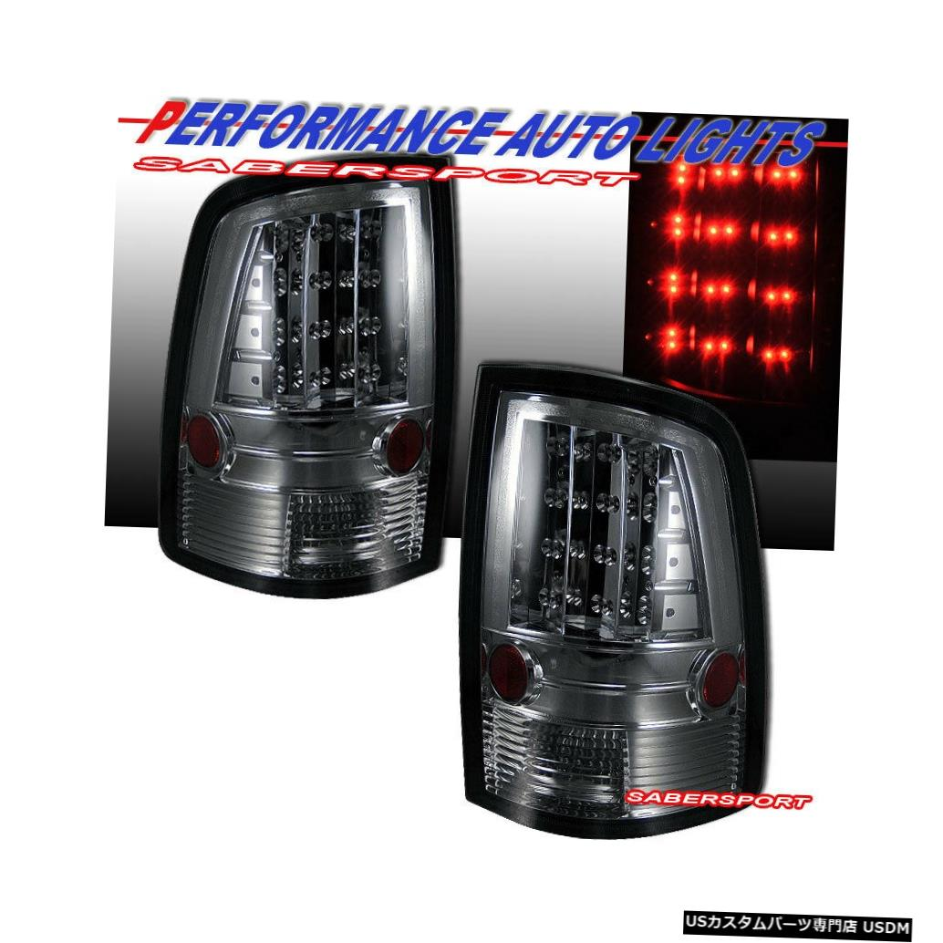 Tail light 2010-2017 Dodge Ram 1500 2500 3500用ペアクロームスモークLEDテールライトセット Set of Pair Chrome Smoke LED Taillights for 2010-2017 Dodge Ram 1500 2500 3500