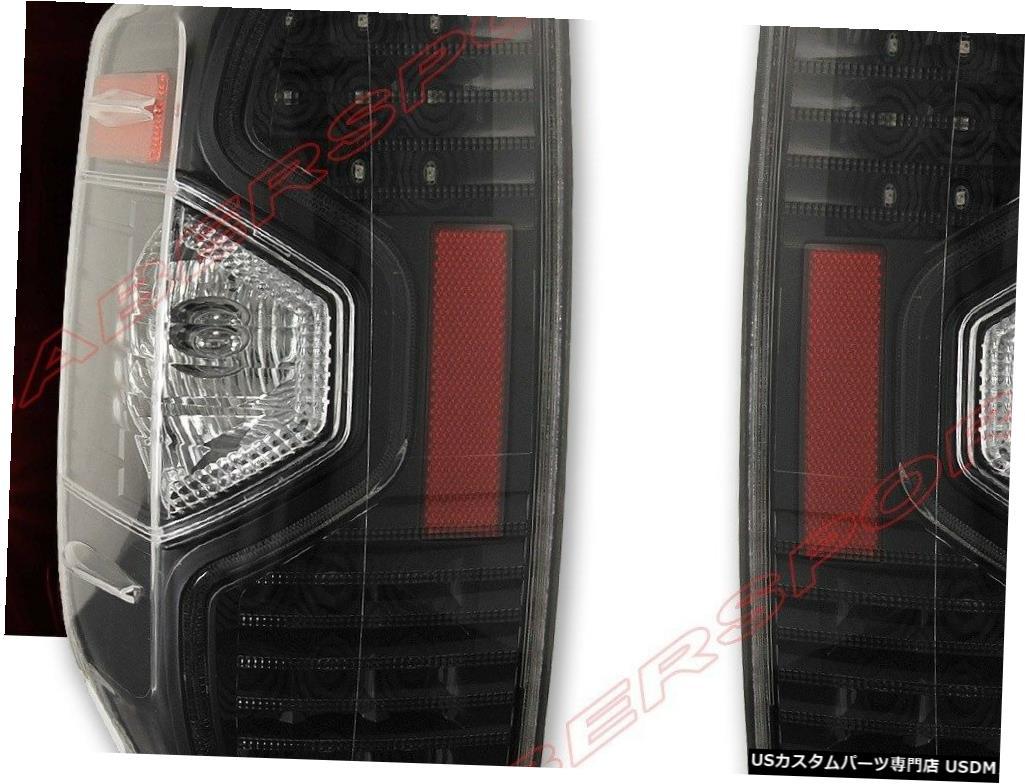 Tail light 2014-2018トヨタタンドラ用ペアブラックハウジングLEDテールライトセット Set of Pair Black Housing LED Taillights for 2014-2018 Toyota Tundra