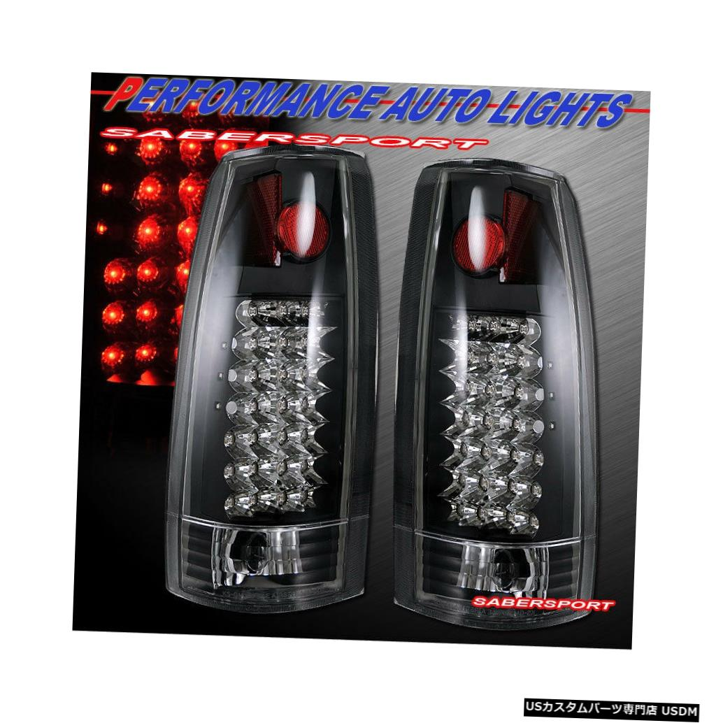 Tail light 88-99 GM C / K 1500 2500 3500ユーコンサバーバン用ブラックG2 LEDテールライトのセット Set of Black G2 LED Taillights for 88-99 GM C/K 1500 2500 3500 Yukon Suburban