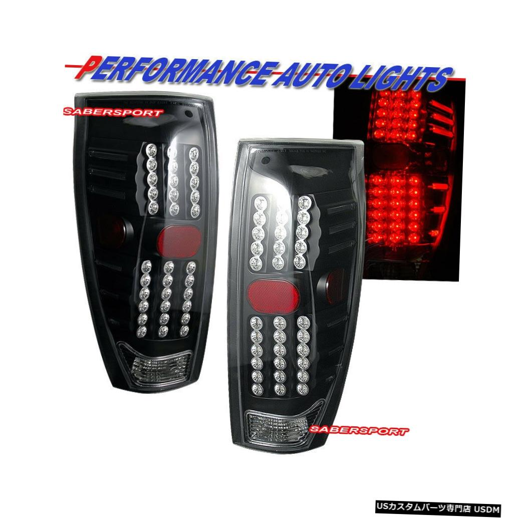 Tail light 2002-2006シボレー雪崩用ペアブラックハウジングLEDテールライトセット Set of Pair Black Housing LED Taillights for 2002-2006 Chevrolet Avalanche