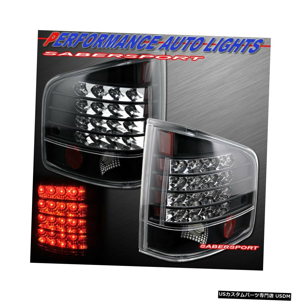 Tail light 1994-2004シェビーS10ピックアップGMCソノマ用ペアブラックLEDテールライトのセット Set of Pair Black LED Taillights for 1994-2004 Chevy S10 Pickup GMC Sonoma