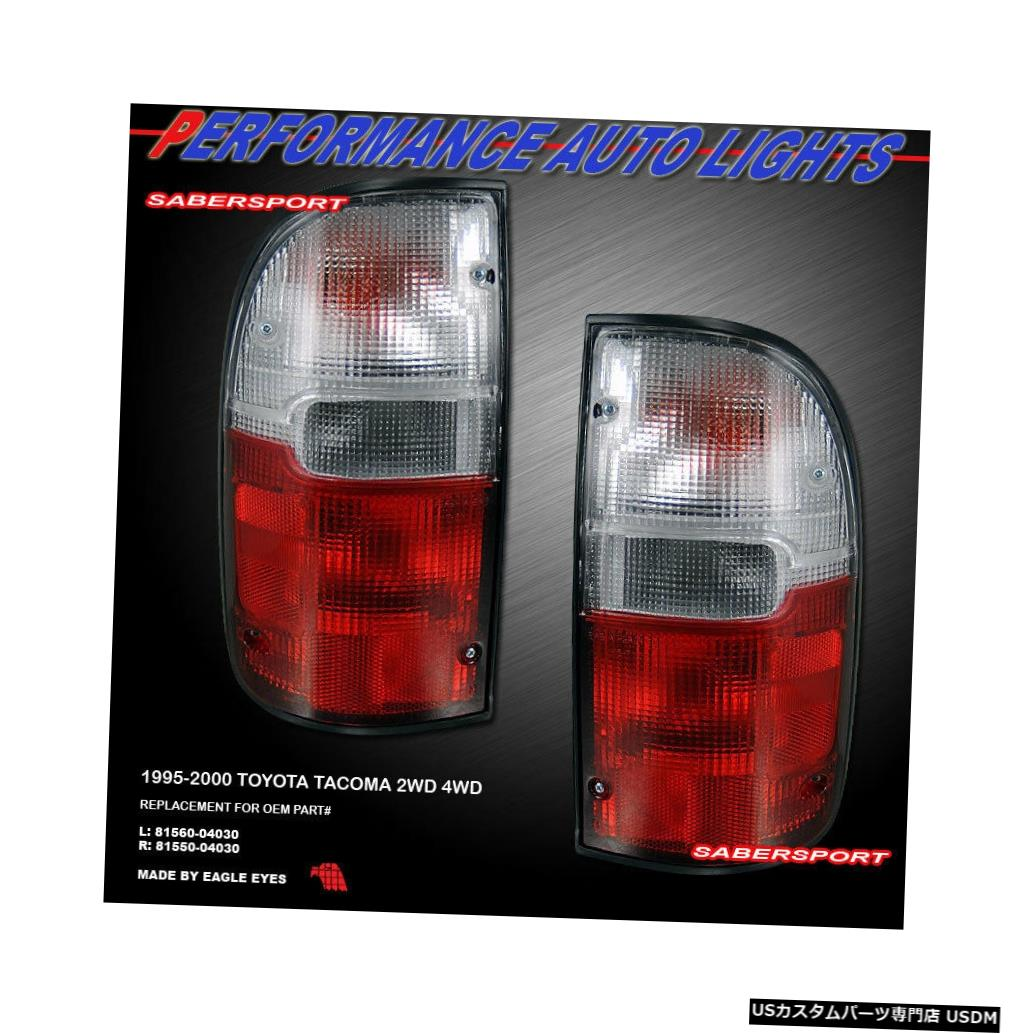 Tail light 1995-2000 Tacoma 2WD 4WDのペアレッドクリアレンズOEスタイルテールライトのセット Set of Pair Red Clear Lens OE Style Taillights for 1995-2000 Tacoma 2WD 4WD