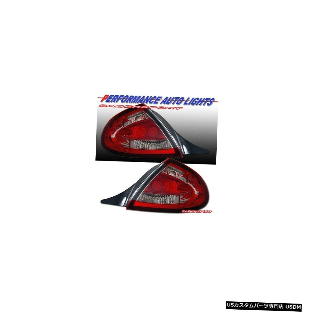Tail light 2000-2002ダッジネオン用ペアレッドクリアテールライトセット Set of Pair Red Clear Taillights for 2000-2002 Dodge Neon