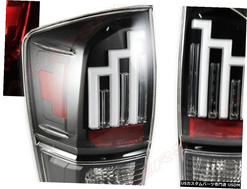<title>車用品 バイク用品 >> パーツ ライト ランプ ブレーキ テールランプ Tail light 2016-2018トヨタタコマ用ペアブラックハウジングLEDテールライトセット Set of Pair Black Housing LED Taillights for 公式サイト 2016-2018 Toyota Tacoma</title>