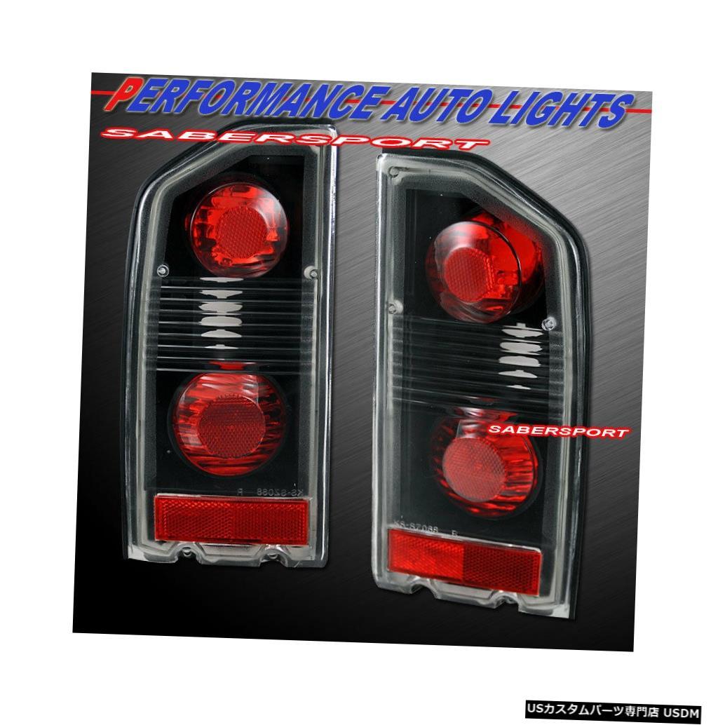Tail light 1989-1998 Suzuki SidekickのペアブラックAltezzaスタイルテールライトのセット Set of Pair Black Altezza Style Taillights for 1989-1998 Suzuki Sidekick