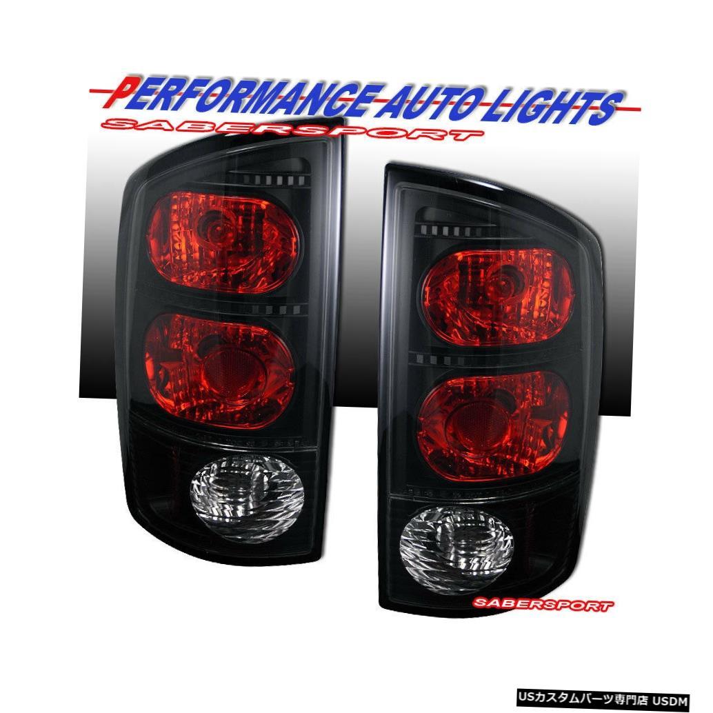 Tail light 02-05ダッジラム1500 / 03-06 2500 3500用ペアブラックスモークテールライトセット Set of Pair Black Smoke Taillights for 02-05 Dodge Ram 1500 / 03-06 2500 3500