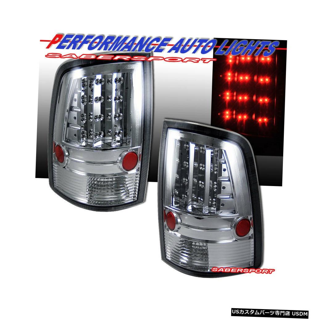 Tail light 2010-2017 Dodge Ram 1500 2500 3500用ペアクロームLEDテールライトセット Set of Pair Chrome LED Taillights for 2010-2017 Dodge Ram 1500 2500 3500