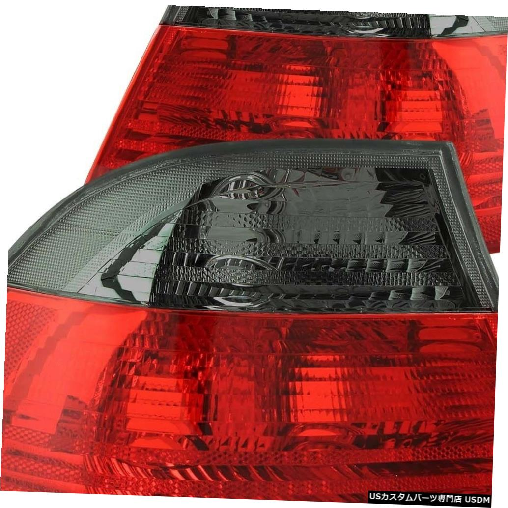 Tail light 2000-2003 BMW E46 3シリーズ2drクーペ用ペアレッドスモークテールライトセット Set of Pair Red Smoke Taillights for 2000-2003 BMW E46 3-Series 2dr Coupe