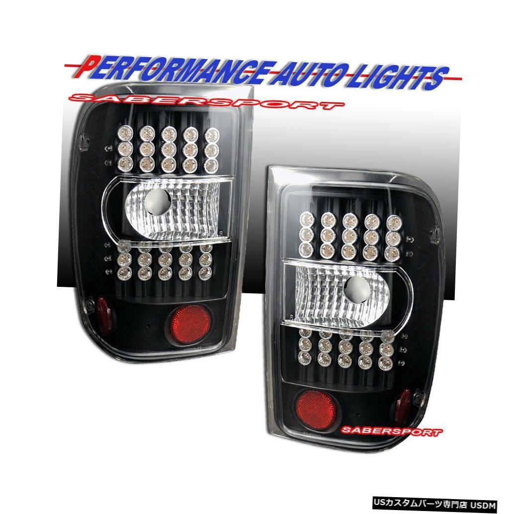 Tail light 2001-2011フォードレンジャー用ペアブラックLEDテールライトセット Set of Pair Black LED Taillights for 2001-2011 Ford Ranger