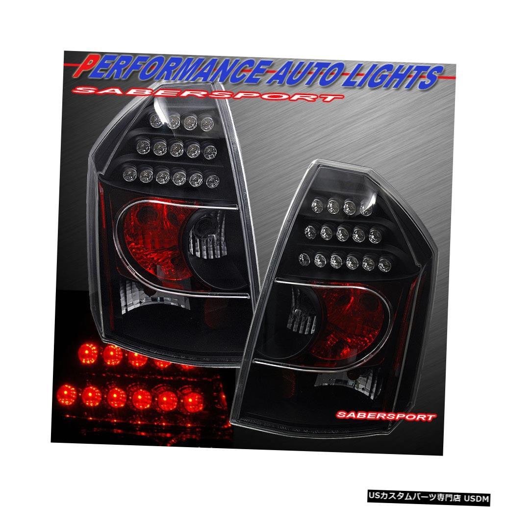 Tail light 2005-2007クライスラー300C / SRT-8用ペアブラックLEDテールライトセット Set of Pair Black LED Taillights for 2005-2007 Chrysler 300C / SRT-8