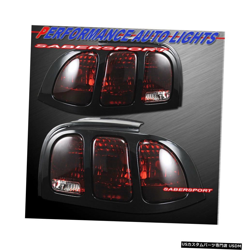 Tail light 1996-1998フォードマスタング用ペアダークレッドレンズテールライトのセット Set of Pair Dark Red Lens Taillights for 1996-1998 Ford Mustang