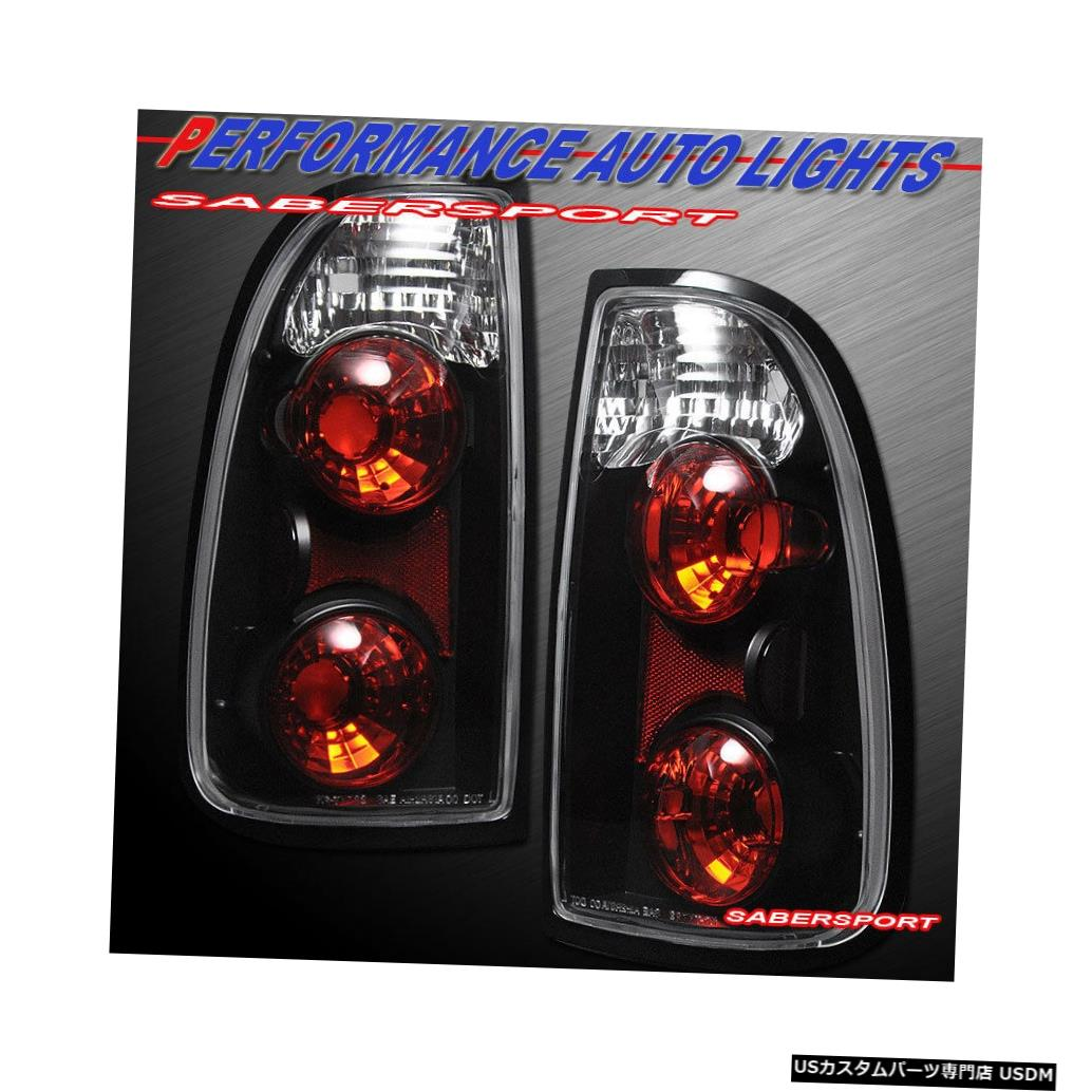 Tail light 2000-2004 Tundra Standard CabおよびAccess Cabのペアブラックテールライトセット Set of Pair Black Taillights for 2000-2004 Tundra Standard Cab and Access Cab