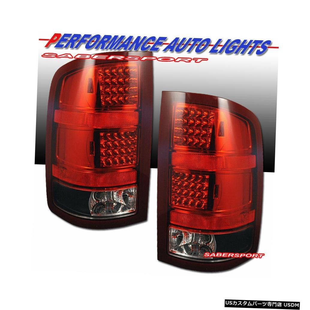 車用品 バイク用品 >> パーツ ライト ランプ ブレーキ テールランプ Tail light 2007-2013 GMC 1500 for LED 2500HDのペアレッドクリアLEDテールライトのセット Sierra of ショップ 2500HD Red Set 本物 Clear Taillights Pair