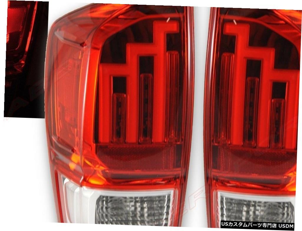 <title>車用品 バイク用品 >> パーツ ライト ランプ ブレーキ 内祝い テールランプ Tail light 2016-2018 Toyota Tacomaのペアの赤いレンズLEDテールライトのセット Set of Pair Red Lens LED Taillights for Tacoma</title>