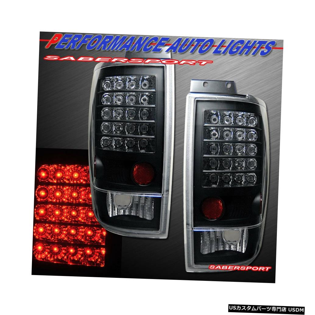 Tail light 1997-2002フォードエクスペディション用ペアブラッククリアLEDテールライトセット Set of Pair Black Clear LED Taillights for 1997-2002 Ford Expedition