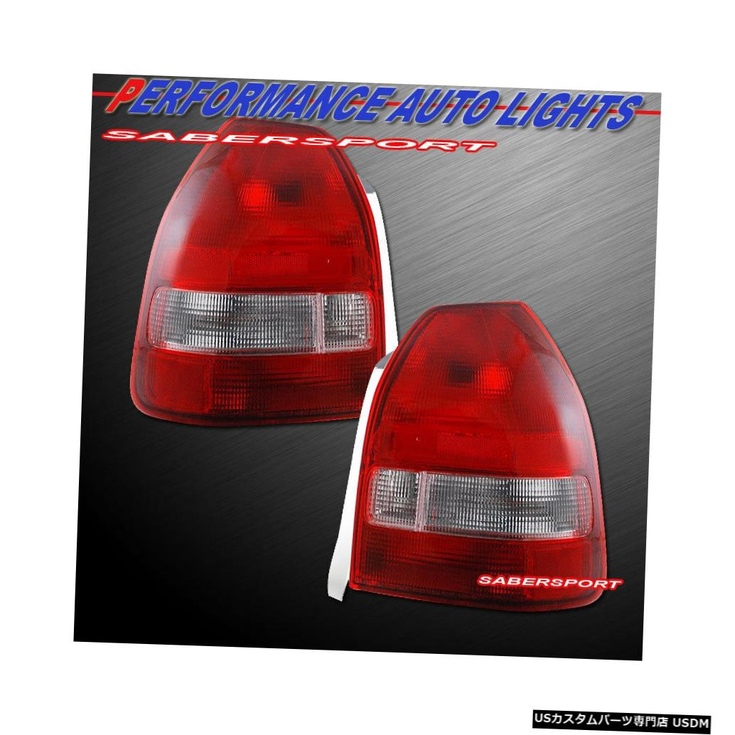 Tail light 1996-2000 Civic 3drハッチバック用ペアOEスタイルレッドクリアテールライトのセット Set of Pair OE Style Red Clear Taillights for 1996-2000 Civic 3dr Hatchback