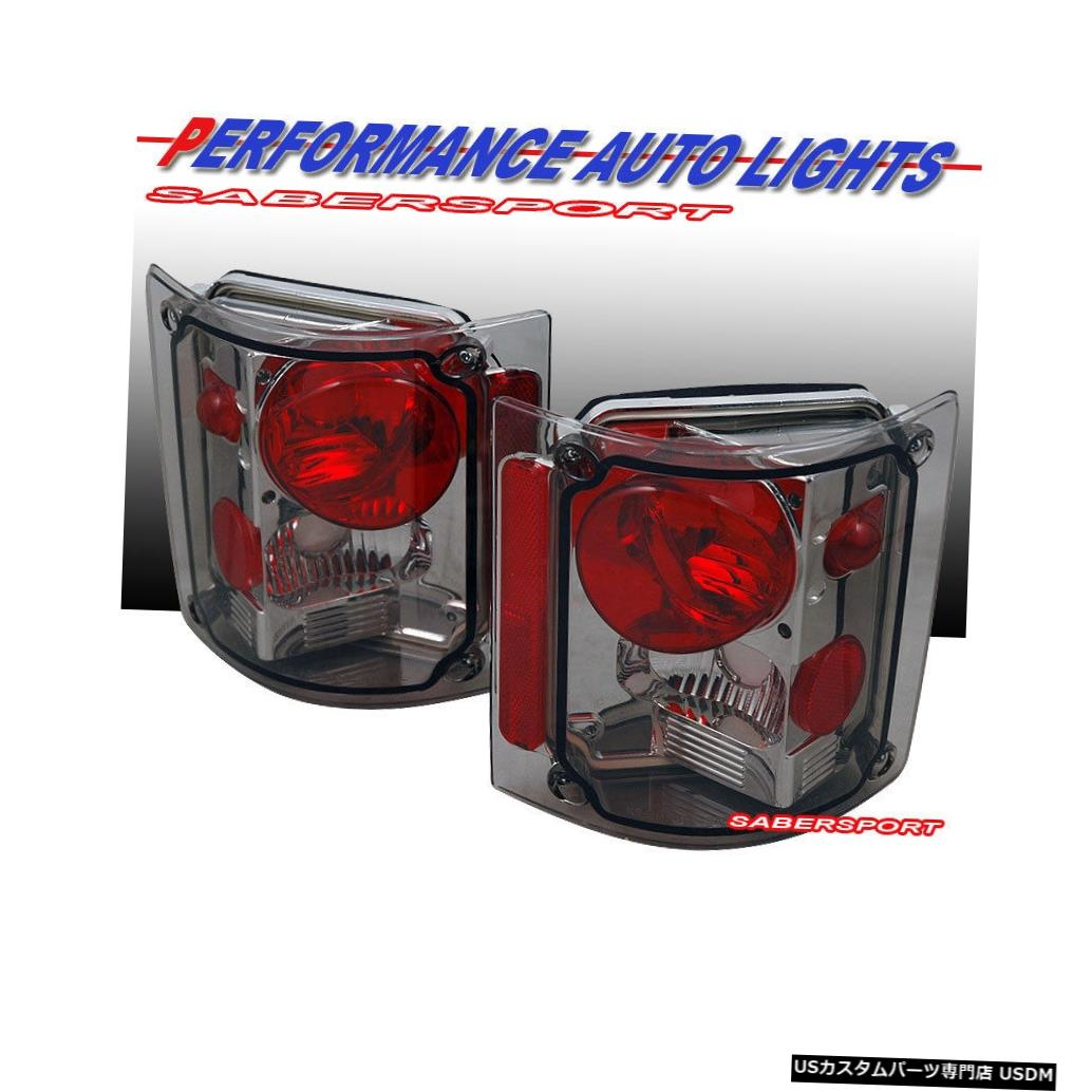 Tail light 1973-1987 GMCシェビーC / K C10フルサイズトラック用ペアスモークテールライトのセット Set of Pair Smoke Taillights for 1973-1987 GMC Chevy C/K C10 Full Size Truck