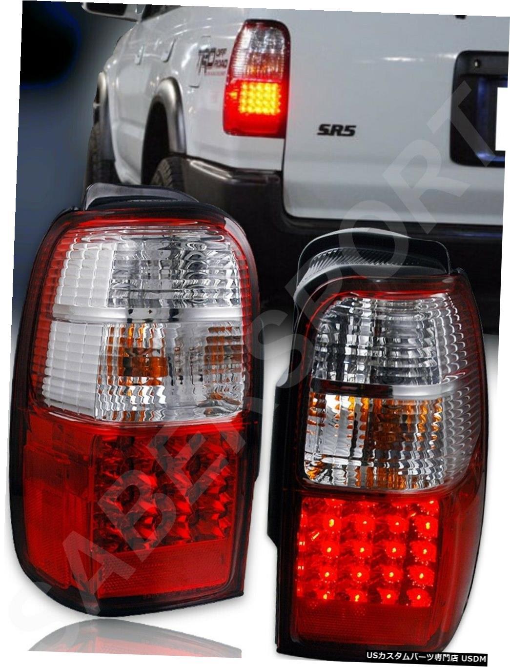 Tail light 1996-2002 Toyota 4Runnerのペアの赤いレンズLEDテールライトのセット Set of Pair Red Lens LED Taillights for 1996-2002 Toyota 4Runner