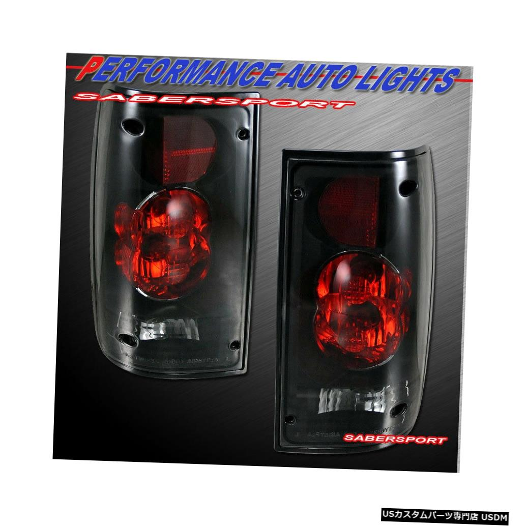 Tail light 1989-1995トヨタピックアップ用ペアブラックスモークアルテッツァスタイルテールライトのセット Set of Pair Black Smoke Altezza Style Taillights for 1989-1995 Toyota Pickup