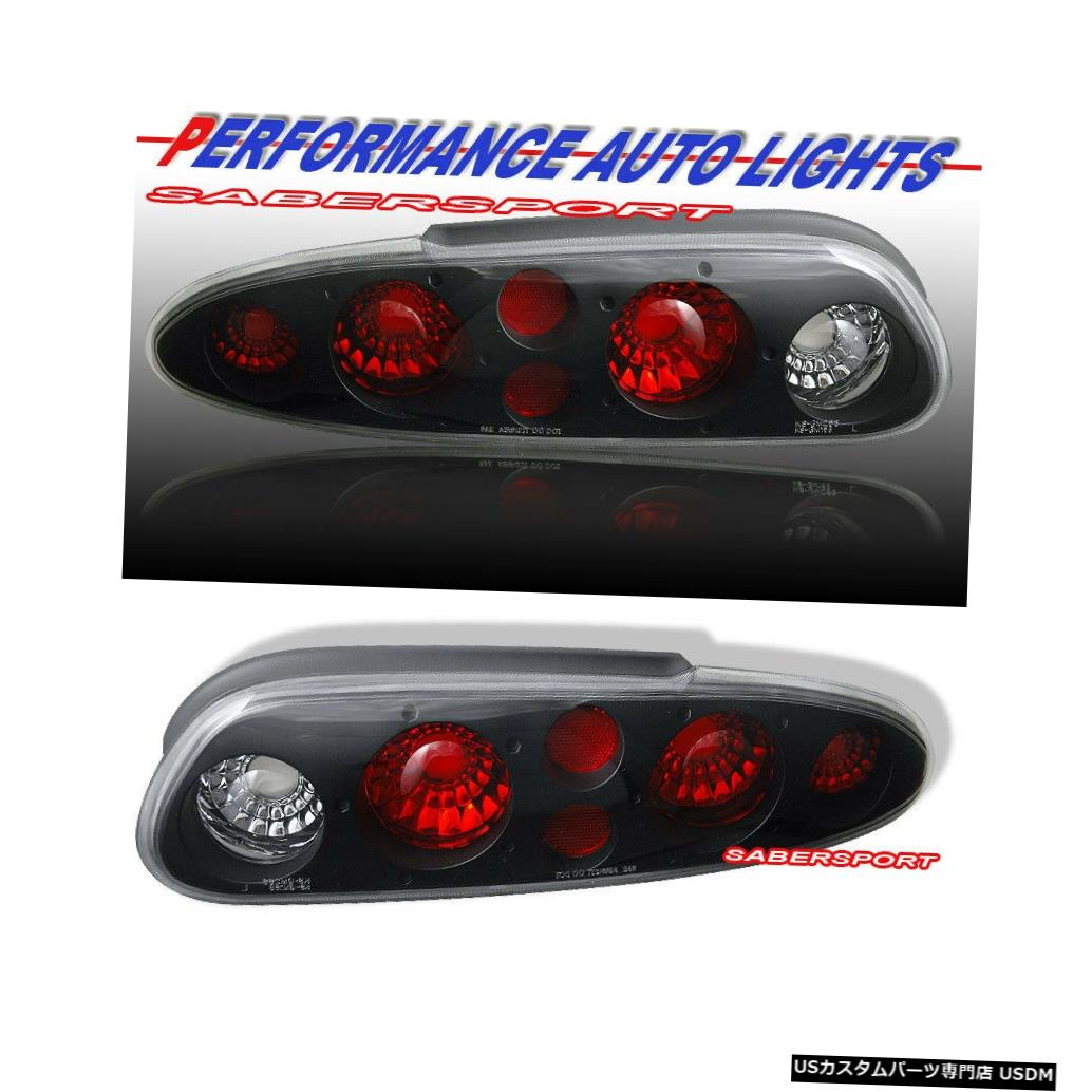 Tail light 1993-2002シボレーカマロのペアブラックテールライトセット Set of Pair Black Taillights for 1993-2002 Chevrolet Camaro