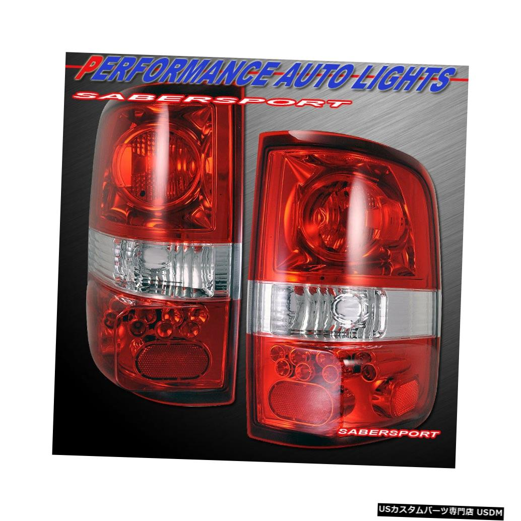 Tail light 2004-2008 Ford F-150ペアペアレッドクリアレンズAltezzaスタイルテールライト Set of Pair Red Clear Lens Altezza Style Taillights for 2004-2008 Ford F-150