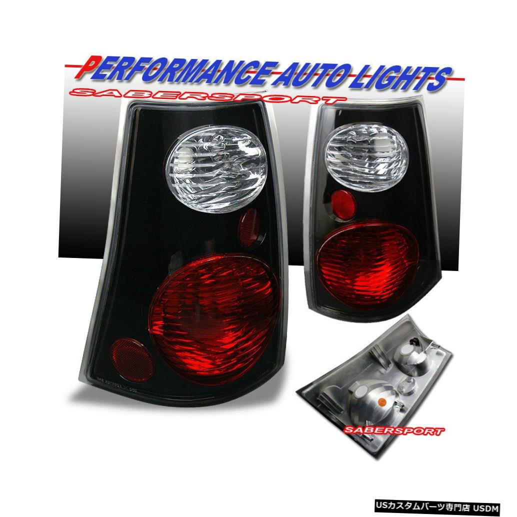Tail light 2001-2005 Ford Explorer Sport Tracのペアブラックテールライトセット Set of Pair Black Taillights for 2001-2005 Ford Explorer Sport Trac