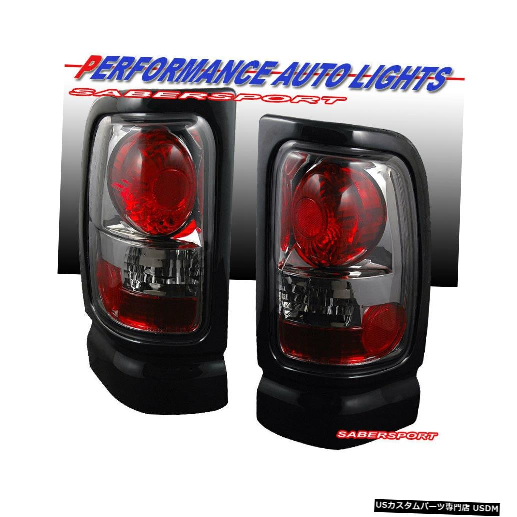 Tail light 1994-2001ダッジラム1500 2500 3500のペアクロームスモークテールランプセット Set of Pair Chrome Smoke Taillights for 1994-2001 Dodge Ram 1500 2500 3500