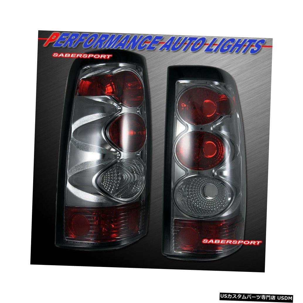 Tail light 2003-2006シボレーシルバラード1500 2500用ペアクロームスモークテールランプセット Set of Pair Chrome Smoke Taillights for 2003-2006 Chevrolet Silverado 1500 2500