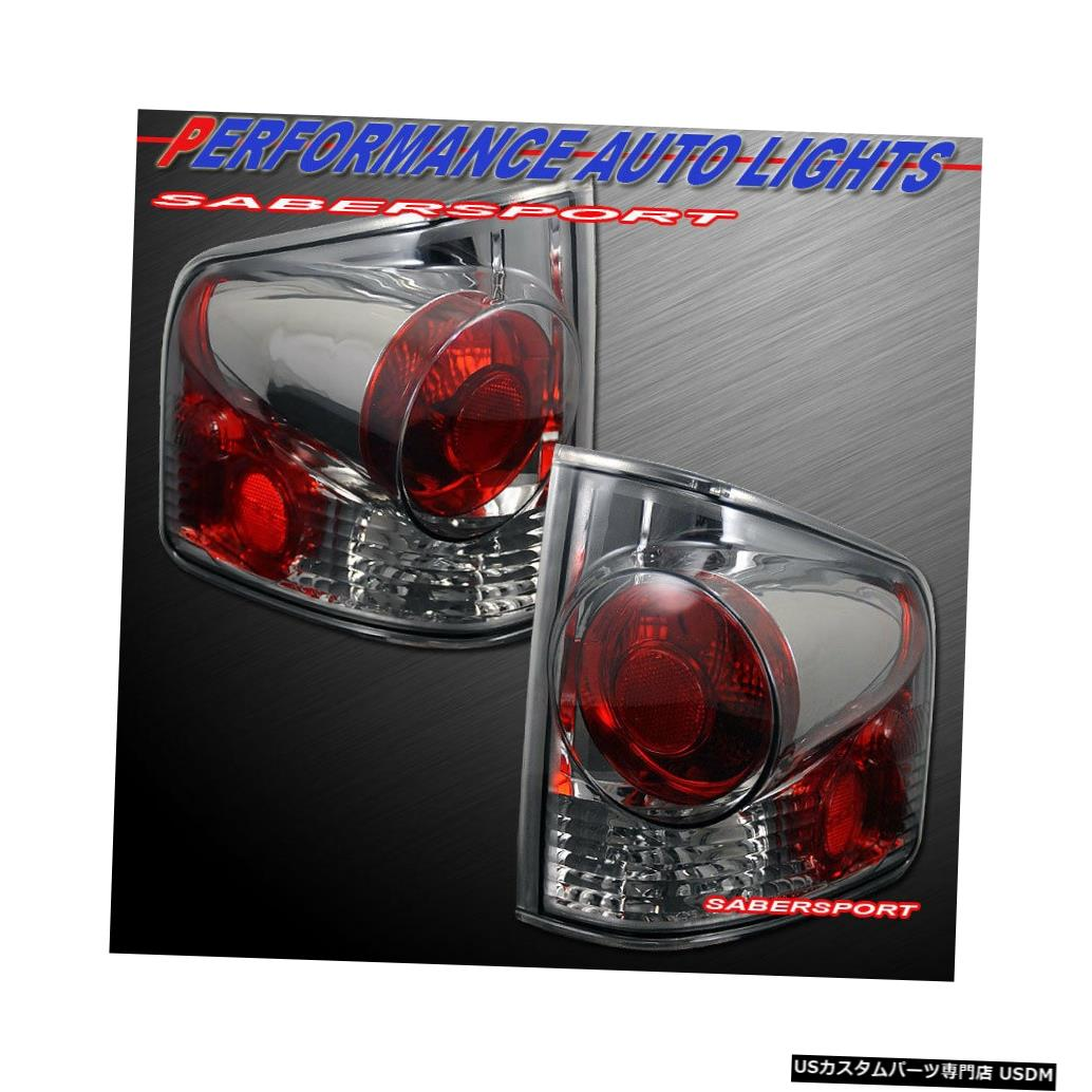 Tail light 1994?2004年のシェビーS10ピックアップGMCソノマ用のペアクロームスモークテールランプセット Set of Pair Chrome Smoke Taillights for 1994-2004 Chevy S10 Pickup GMC Sonoma