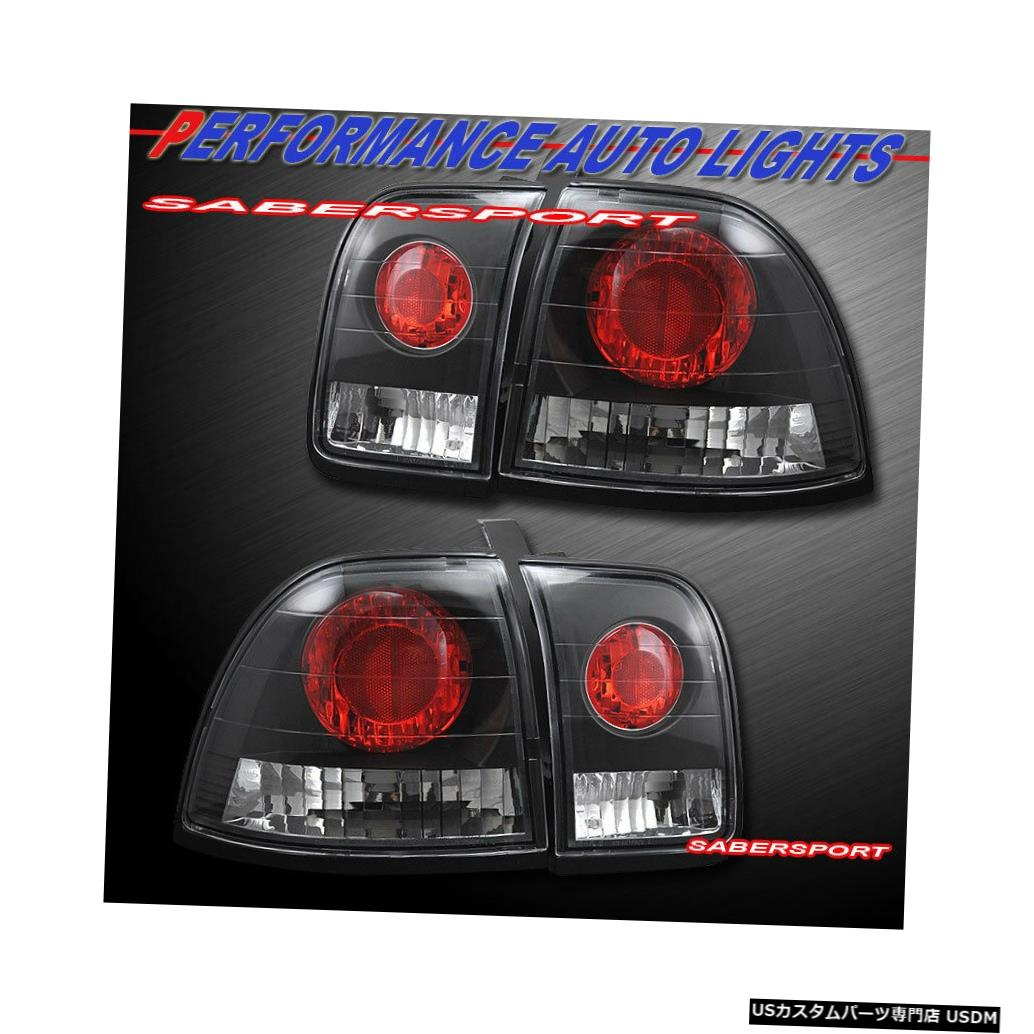 Tail light 1996-1997 Honda Accord 2dr 4drのペアブラックAltezzaスタイルテールライトのセット Set of Pair Black Altezza Style Taillights for 1996-1997 Honda Accord 2dr 4dr