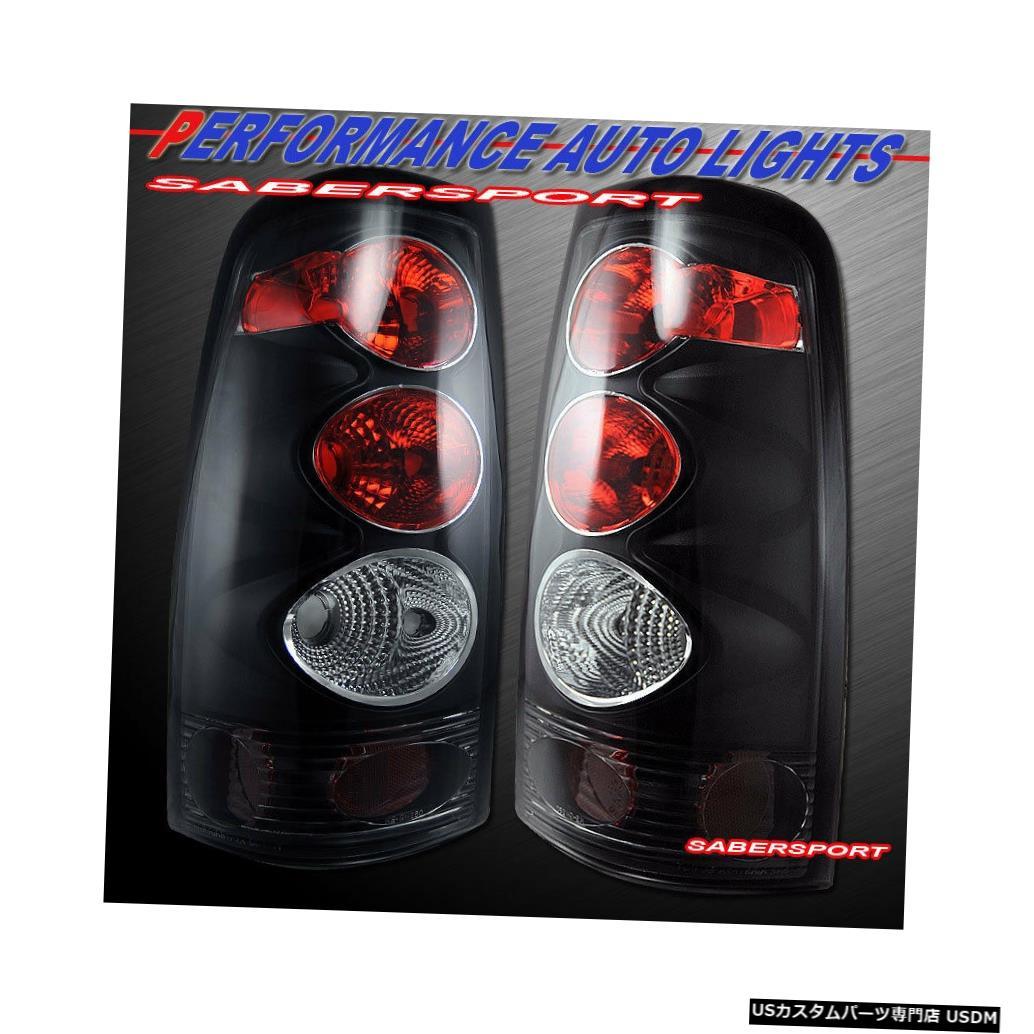 Tail light 1999-2002 Silverado 1500 2500 / 99-06 Sierraのペアブラックテールランプセット Set of Pair Black Taillights for 1999-2002 Silverado 1500 2500 / 99-06 Sierra