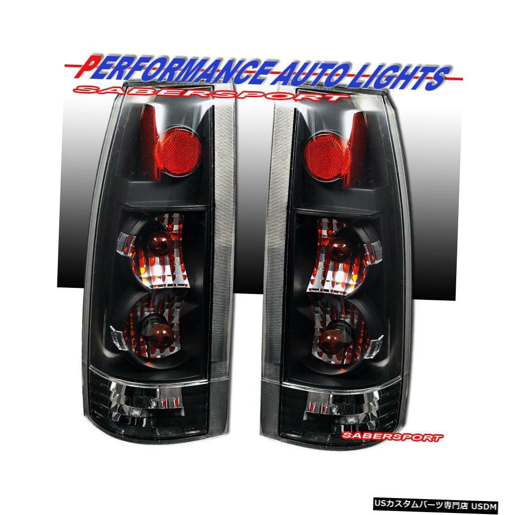 Tail light 88-99 GM C / K 1500 2500 3500ユーコンサバーバン用ブラッククリアG5テールライトセット Set of Black Clear G5 Taillights for 88-99 GM C/K 1500 2500 3500 Yukon Suburban