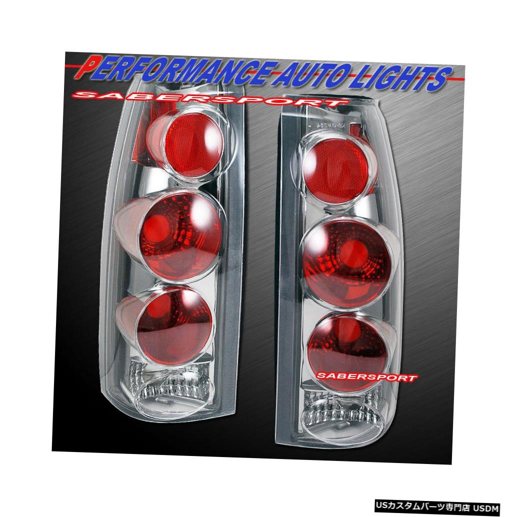 Tail light 88-99 GM C / K 1500 2500 3500ユーコンサバーバン用クロームクリアテールライトセット Set of Chrome Clear Taillights for 88-99 GM C/K 1500 2500 3500 Yukon Suburban