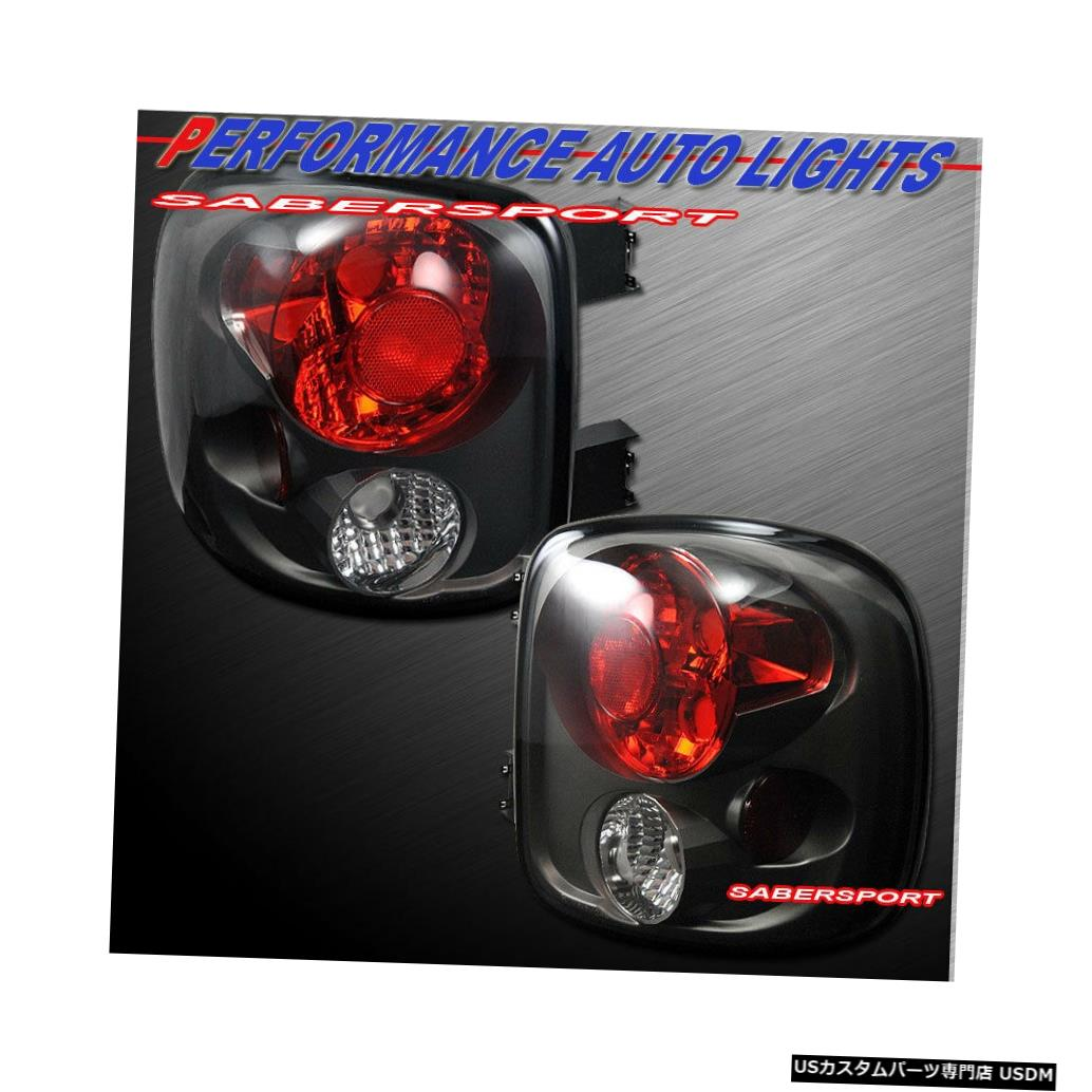 Tail light 1999-2004 Silverado Sierra Stepside専用のペアブラックスモークテールライトセット Set of Pair Black Smoke Taillights for 1999-2004 Silverado Sierra Stepside only