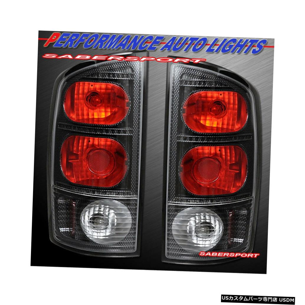 Tail light 2002-2005 Ram 1500 / 03-06 2500 3500のペアカーボンルックテールライトセット Set of Pair Carbon Look Taillights for 2002-2005 Ram 1500 / 03-06 2500 3500