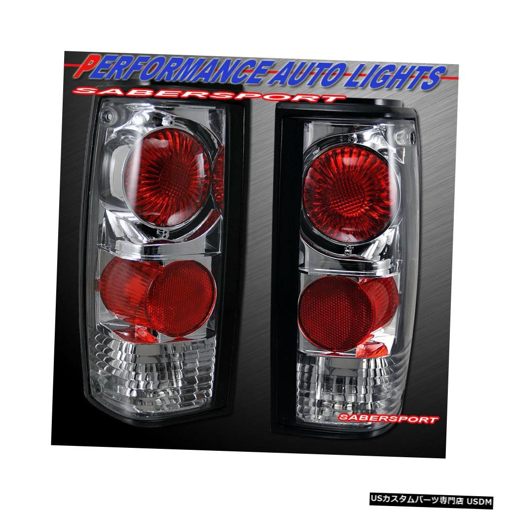 Tail light 1982-1993シェビーS10ピックアップGMCソノマピックアップ用ペアクロームテールライトセット Set of Pair Chrome Taillights for 1982-1993 Chevy S10 Pickup GMC Sonoma Pickup