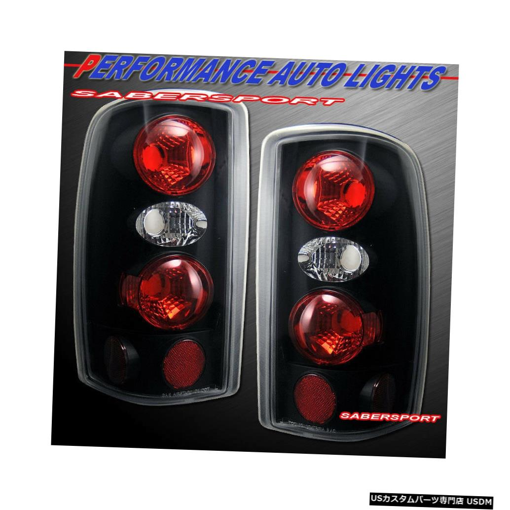 Tail light 2000-2006シェビータホサバーバン/ GMCユーコン用ペアブラックテールライトセット Set of Pair Black Taillights for 2000-2006 Chevy Tahoe Suburban / GMC Yukon