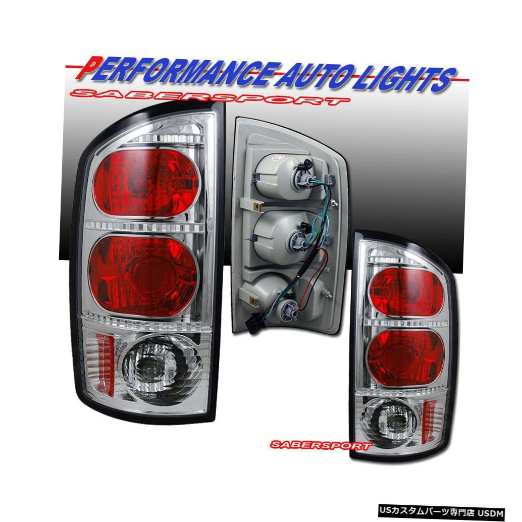 Tail light 2002-2005 Dodge Ram 1500 / 03-06 2500 3500のペアクロームテールライトセット Set of Pair Chrome Taillights for 2002-2005 Dodge Ram 1500 / 03-06 2500 3500