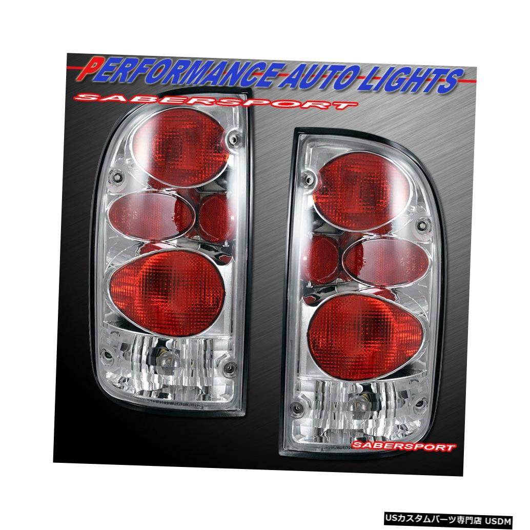 Tail light 1995-2000トヨタタコマ2WD 4WDのペアクロームアルテッツァスタイルテールライトのセット Set of Pair Chrome Altezza Style Taillights for 1995-2000 Toyota Tacoma 2WD 4WD