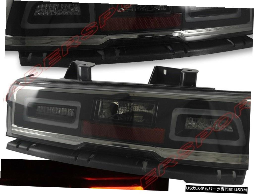 Tail light 2014-2015シボレーカマロ用ペアクロームスモークLEDテールライトセット Set of Pair Chrome Smoke LED Taillights for 2014-2015 Chevrolet Camaro