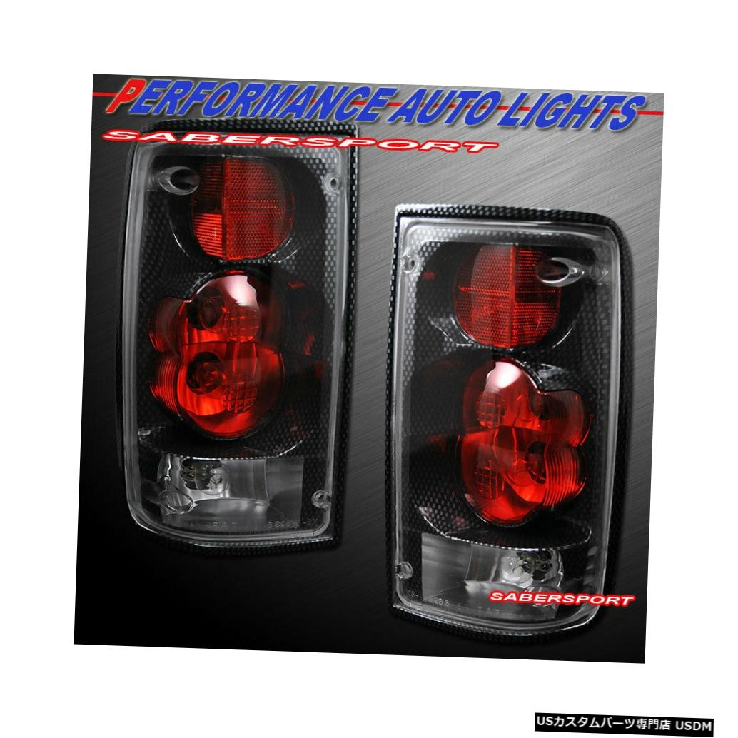 Tail light 1989-1995トヨタピックアップ用ペアカーボンスタイルルックテールライトのセット Set of Pair Carbon Style Look Taillights for 1989-1995 Toyota Pickup