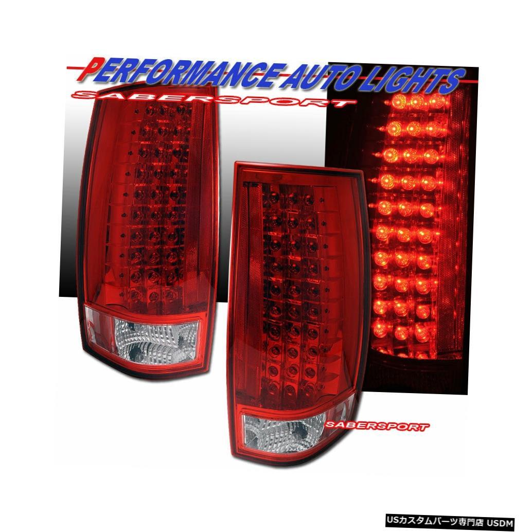 Tail light 2007-2014 Chevy Tahoe Suburban / GMC Yukonの赤いレンズLEDテールライトのセット Set of Red Lens LED Taillights for 2007-2014 Chevy Tahoe Suburban / GMC Yukon