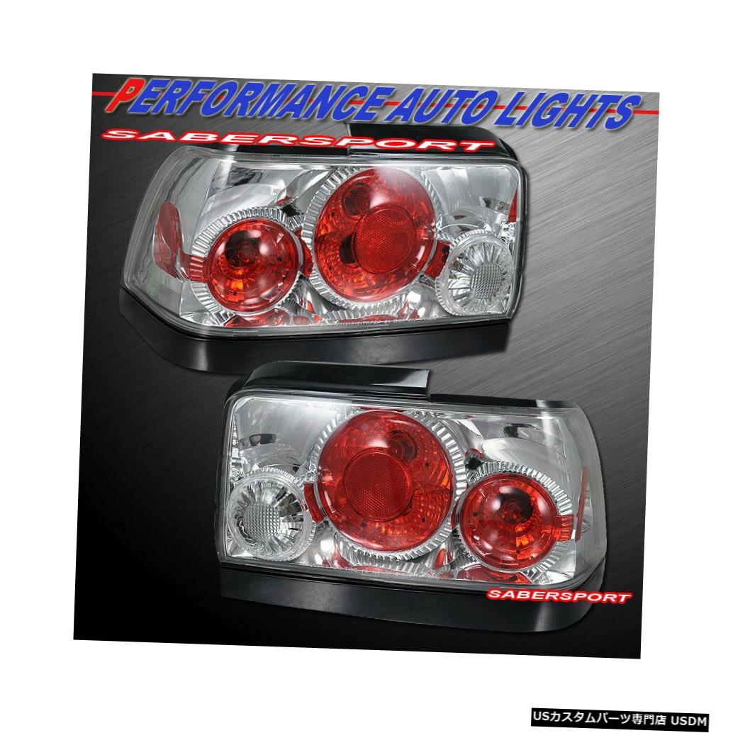 Tail light 1993-1997トヨタカローラ用ペアクロームアルテッツァスタイルテールライトセット Set of Pair Chrome Altezza Style Taillights for 1993-1997 Toyota Corolla