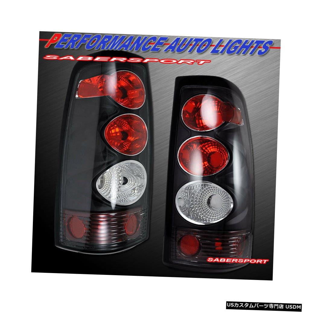 Tail light 2003-2006シボレーシルバラード1500 2500用ペアブラックテールライトセット Set of Pair Black Taillights for 2003-2006 Chevrolet Silverado 1500 2500