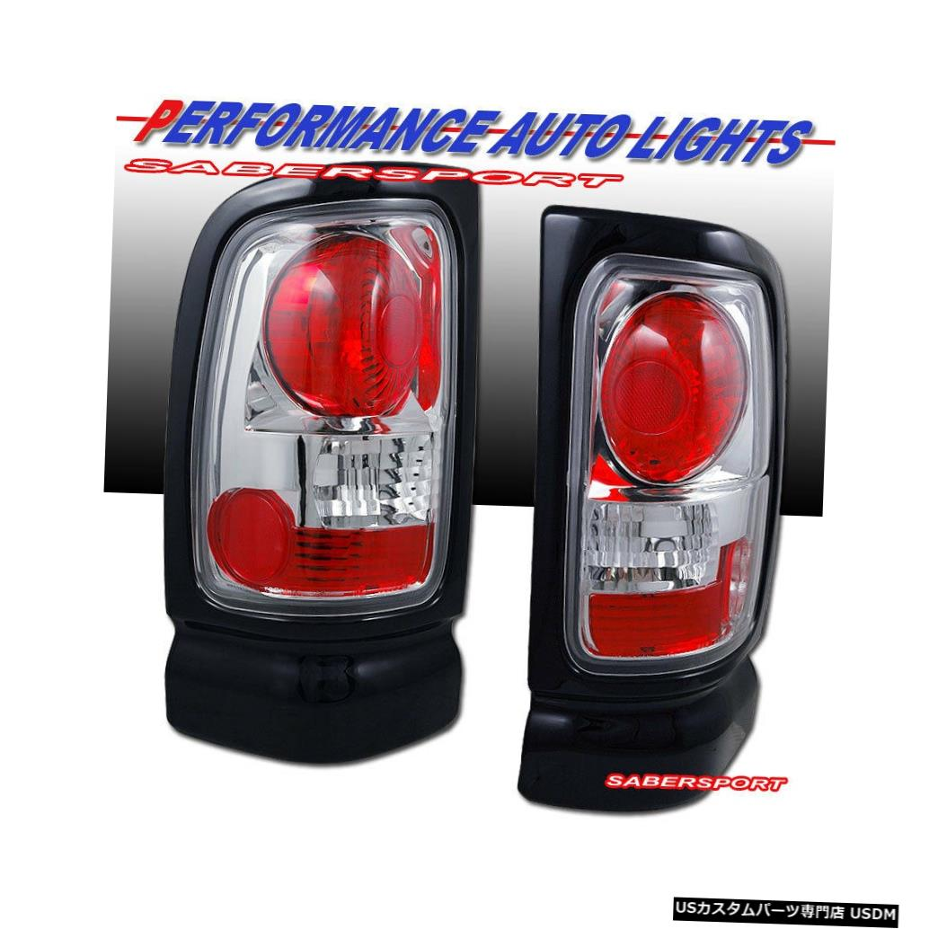 Tail light 1994-2001 Dodge Ram 1500 / 1994-2002 2500 3500のペアクロームテールライトセット Set of Pair Chrome Taillights for 1994-2001 Dodge Ram 1500 / 1994-2002 2500 3500