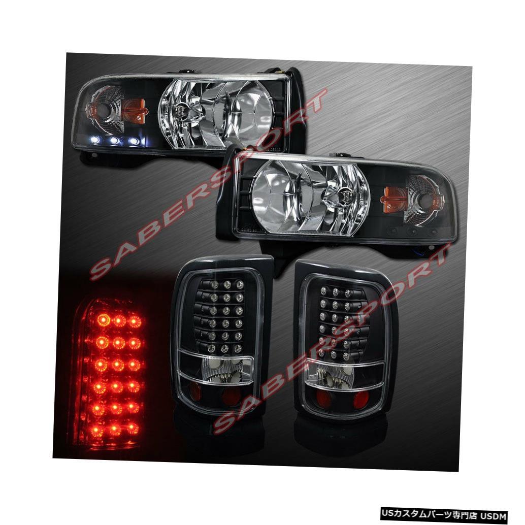 <title>車用品 バイク用品 店舗 >> パーツ ライト ランプ ブレーキ テールランプ Tail light 94-01ダッジラムピックアップ用ワンピーススタイルブラックヘッドライトとLEDテールライト One Pieces Style Black Headlights and LED Taillights for 94-01 Dodge Ram Pickup</title>