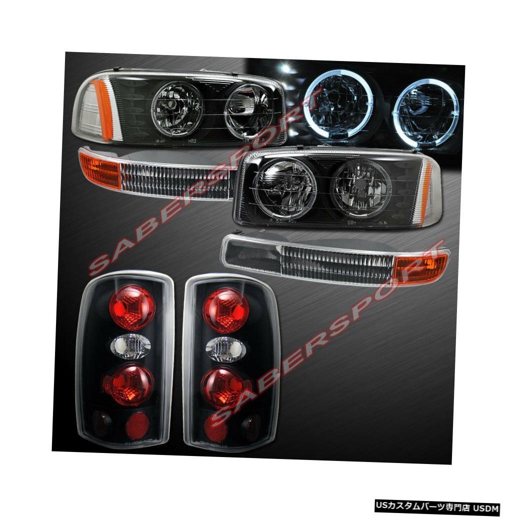 Tail light 2000-2006ユーコン用コンボセットブラックハローヘッドライト+パークシグナル+テールライト Combo Set Black Halo Headlights + Park Signal + Taillights for 2000-2006 Yukon