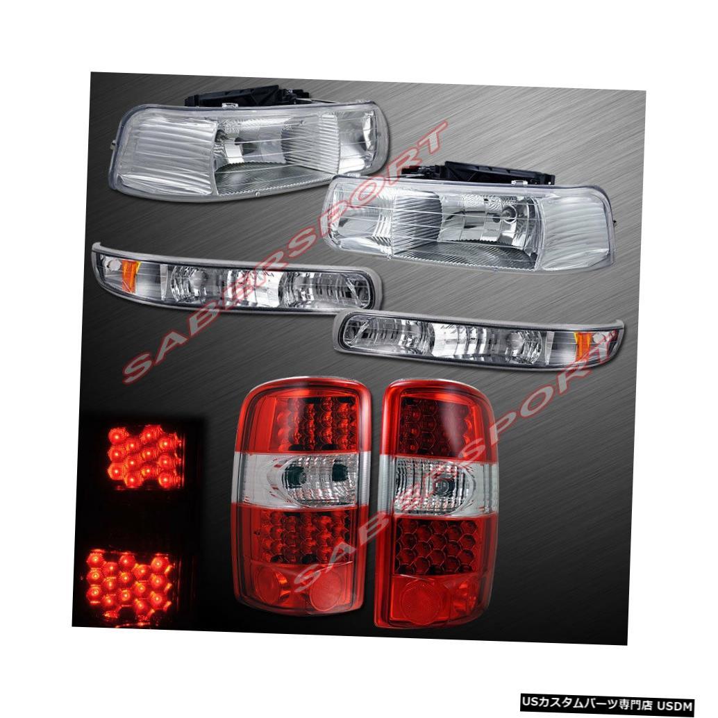 <title>車用品 バイク用品 >> パーツ ライト ランプ ブレーキ テールランプ Tail light クリアヘッドライトとパークシグナルのセット+ 00-06サバーバンタホ用LEDテールライト Set of Clear 超安い Headlights w park Signal + LED Taillights for 00-06 Suburban Tahoe</title>