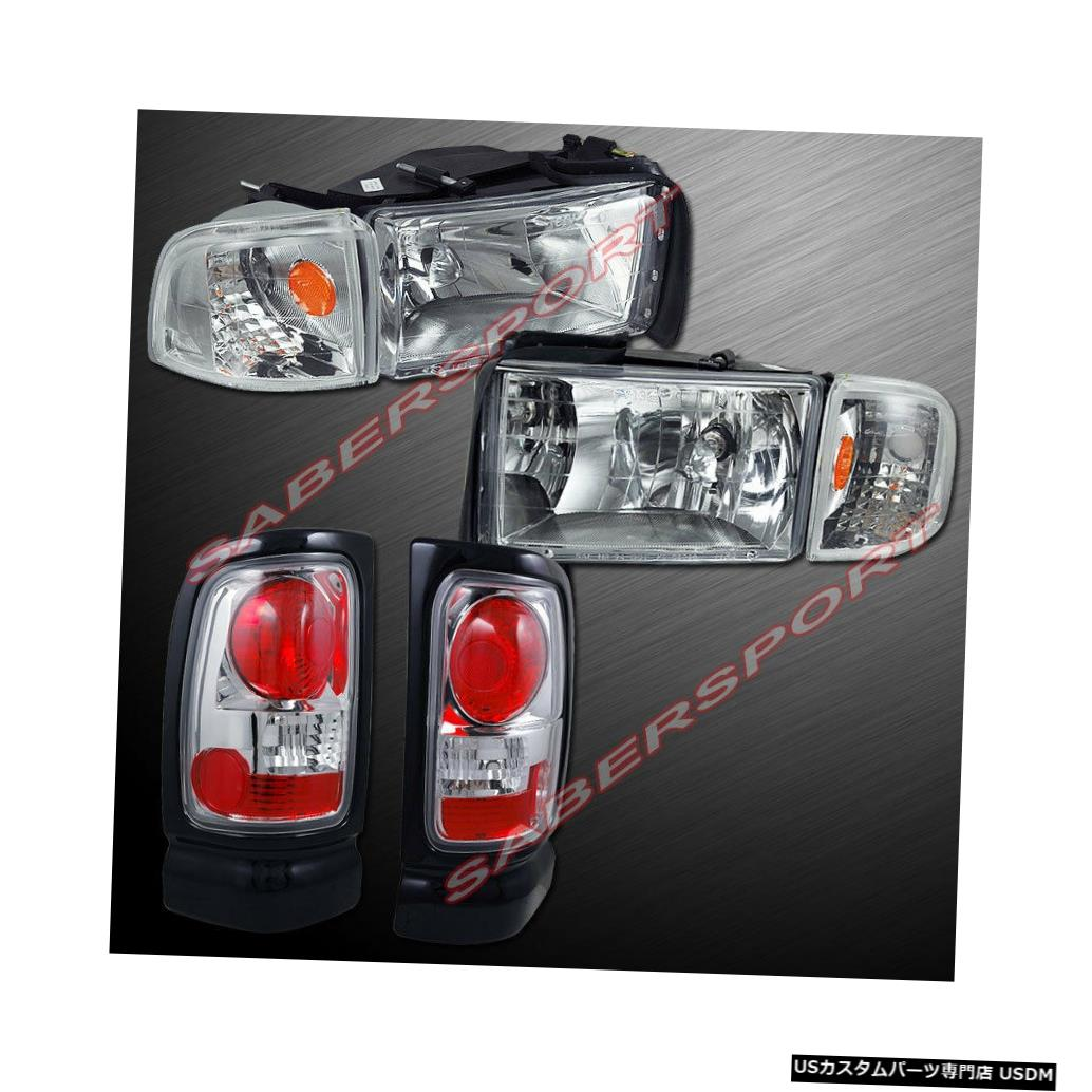 Tail light 94-01ダッジラムピックアップ用ユーロクリアヘッドライト+テールライトのコンボセット Combo Set of Euro Clear Headlights + Taillights for 94-01 Dodge Ram Pickup