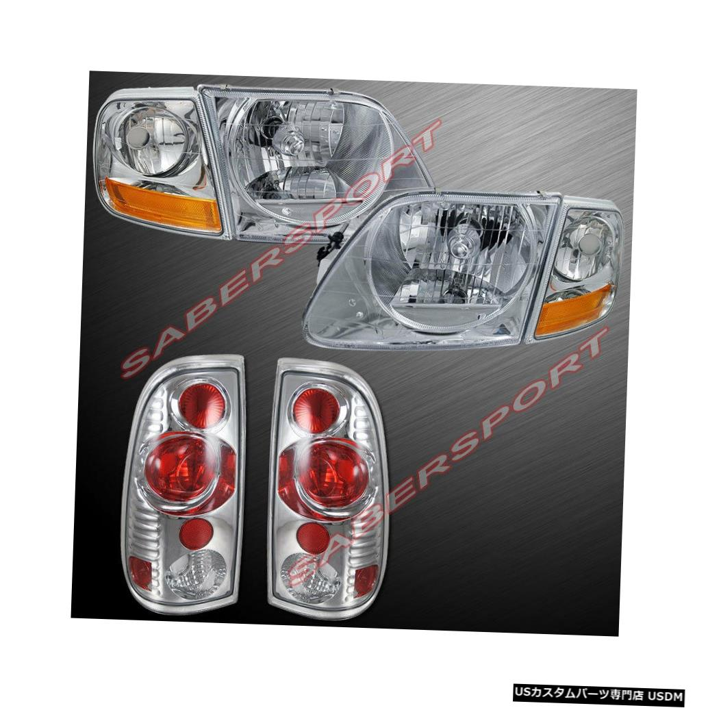 Tail light 1997.8-2003 Ford F-150のユーロクリアヘッドライトとコーナー+テールライトのセット Set of Euro Clear Headlights w/ Corner + Taillights for 1997.8-2003 Ford F-150